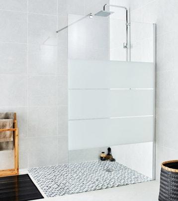 paroi de douche litalienne l120 cm verre srigraphi 6 mm - Paroi De Douche Avec Retour Pivotant