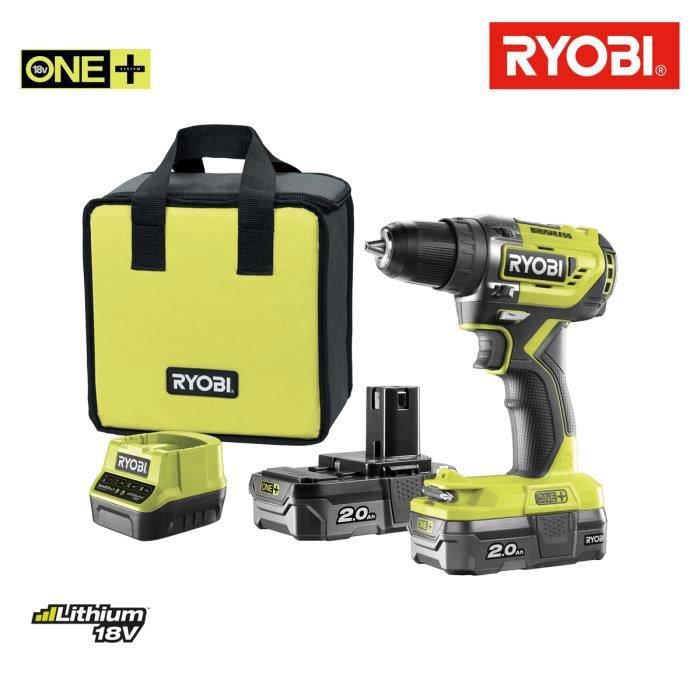 Perceuse Sans Fil Ryobi 2 Ah 2 Batteries R18dd5 220s