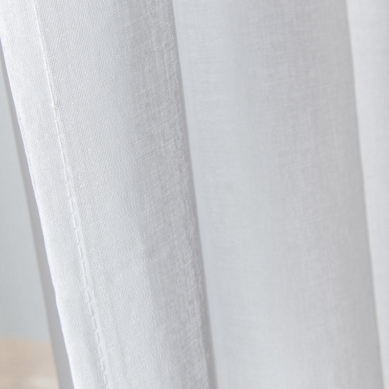 Voilage Transparent Grande Largeur Chic Blanc L300 X H240 Cm