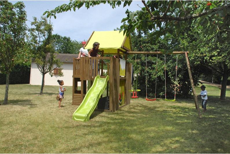 Aire De Jeux En Bois Soulet Chantilly H 330 Cm