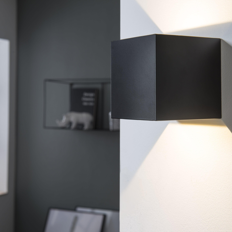 Applique aluminium noir led intégrée INSPIRE Kubbo