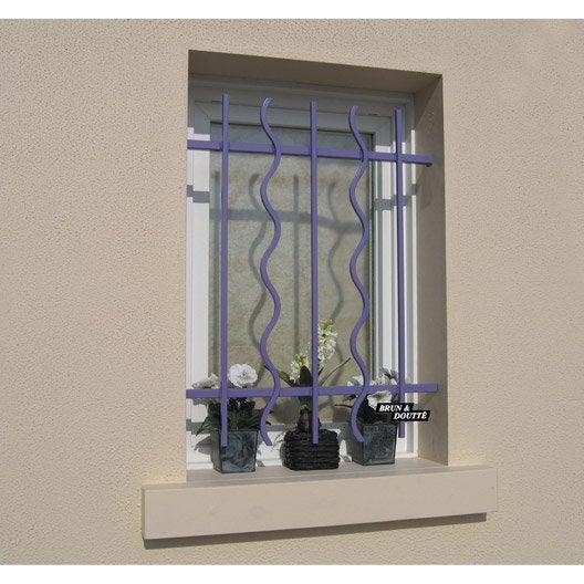 grille de d fense pour fen tre lazure x cm leroy merlin. Black Bedroom Furniture Sets. Home Design Ideas