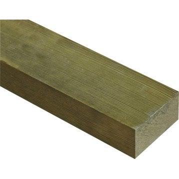 Lambourde (1/2 chevron) pin traité 40x75 mm 3 m chx2