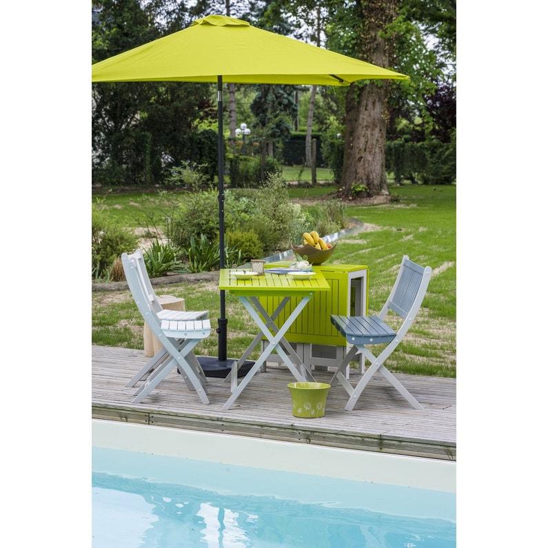 Table de jardin CITY GREEN Burano rectangulaire vert 6 personnes ...