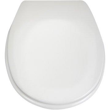 Abattant frein de chute blanc plastique thermodur, SENSEA Sparta