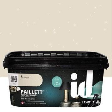 Peinture à effet, Paillett', beige hollywood, 2 l
