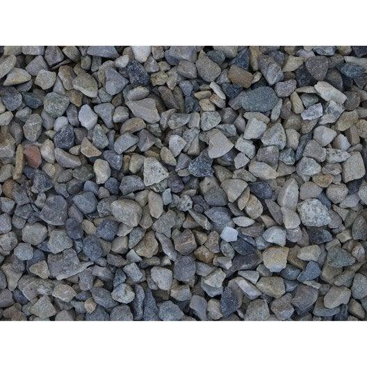 graviers pierre naturelle gris silico 6 10 mm 350 kg leroy merlin. Black Bedroom Furniture Sets. Home Design Ideas