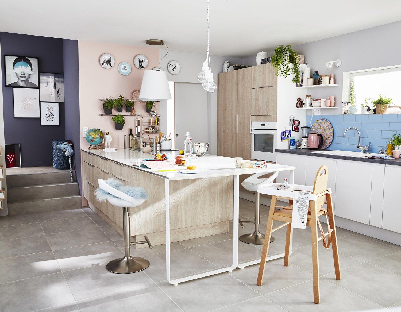 Une Cuisine Familiale Au Style Scandinave Leroy Merlin