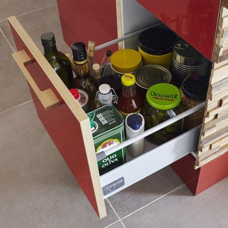 Un tiroir coulissant avec beaucoup de place