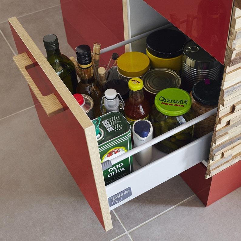 Un tiroir coulissant avec beaucoup de place leroy merlin - Meuble avec beaucoup de tiroirs ...