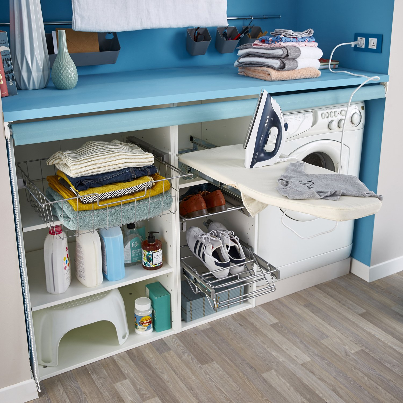 une buanderie astucieuse leroy merlin. Black Bedroom Furniture Sets. Home Design Ideas