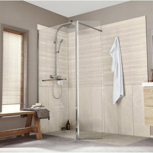 Paroi de douche l 39 italienne cm verre for Prix salle de bain douche italienne