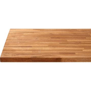 plan de travail bois acacia huil mat l250 x p65 cm ep