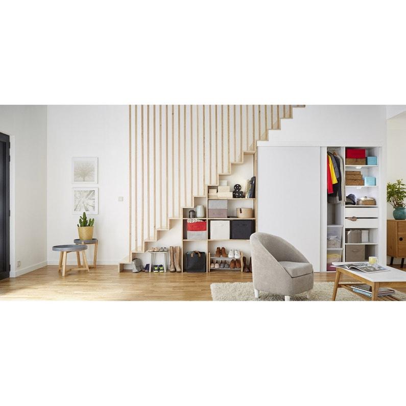 Kit Dressing Blanc Smart H 195 X L 180 X P 44 Cm X P De La Joue44