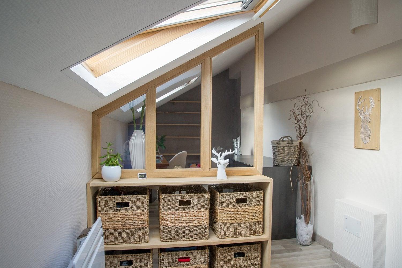 accord parfait entre la verri re sous pente et la fen tre de toit de charl ne hersin coupigny. Black Bedroom Furniture Sets. Home Design Ideas