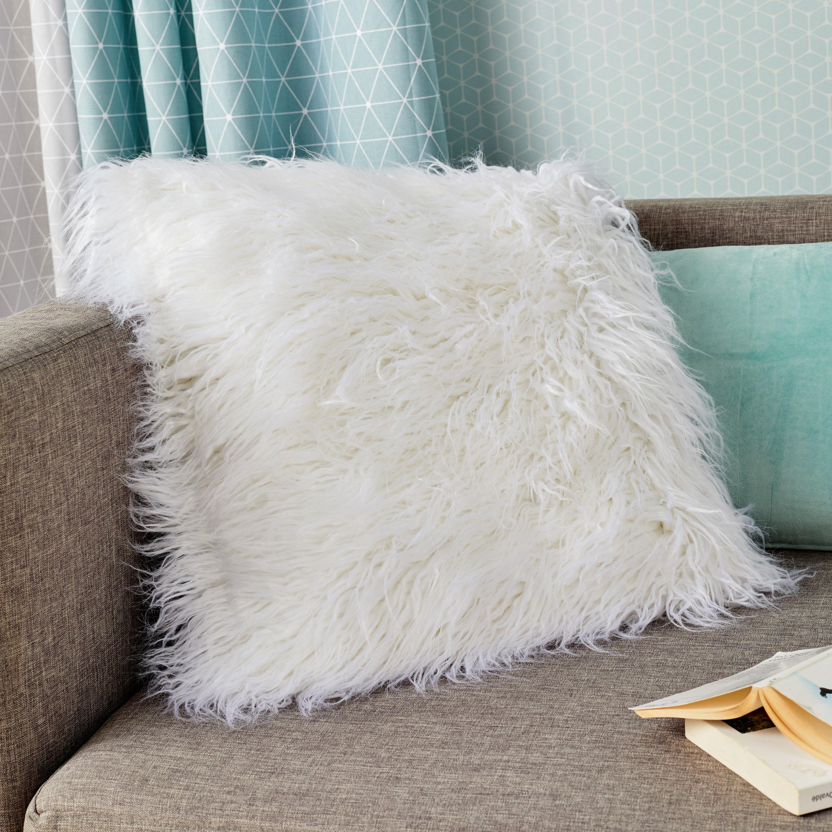 Coussin Dolma INSPIRE, blanc l.45 x H.45 cm