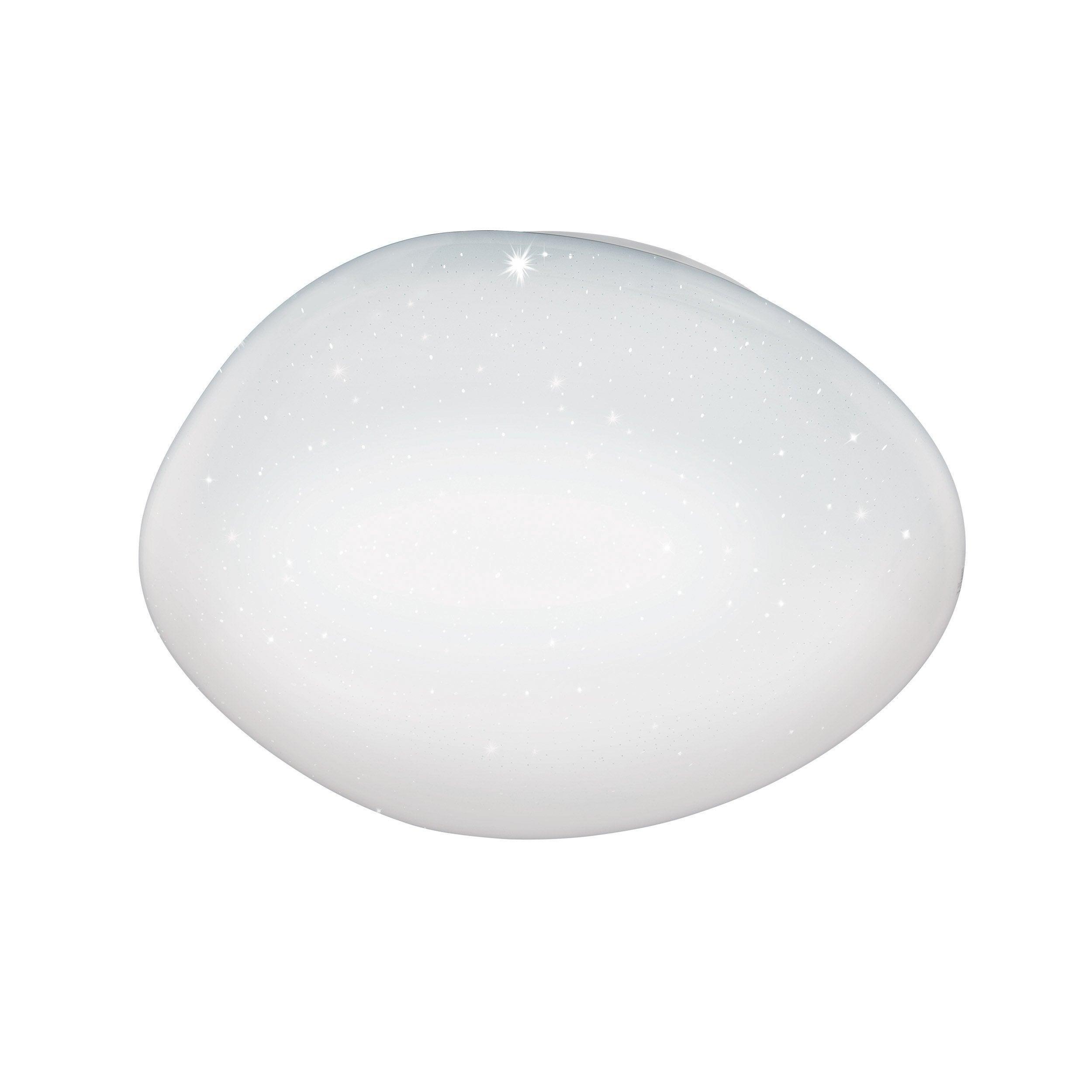 Plafonnier, classique plastique blanc led intégrée EGLO Sileras connect D.45 cm