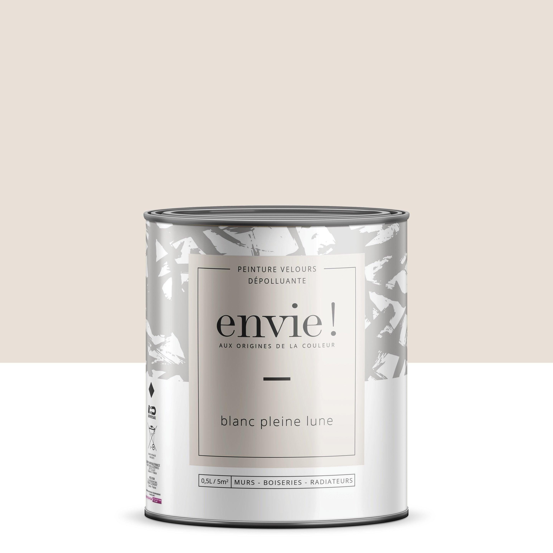 Peinture mur, boiserie, radiateur Multisupports ENVIE, blanc pleine lune, 0.5 l,