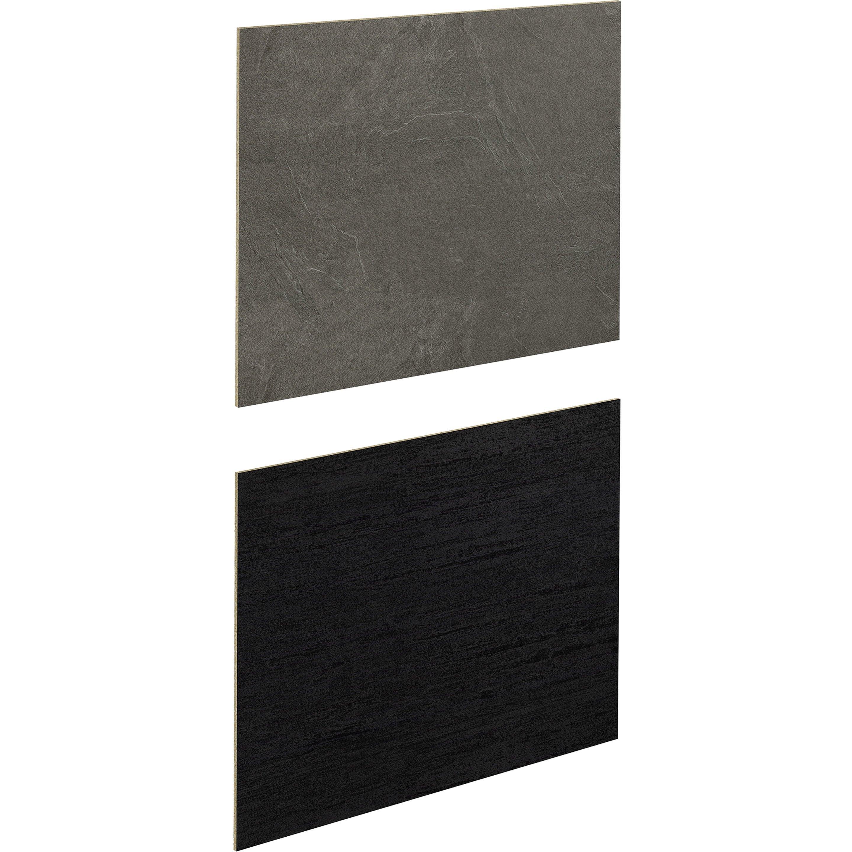 Crédence stratifié Effet métal noir / luna noir H.64 cm x Ep.9 mm x L.300 cm