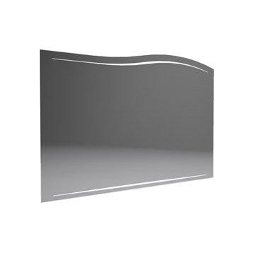 Miroir avec éclairage intégré l. 100 cm, DECOTEC Elegance
