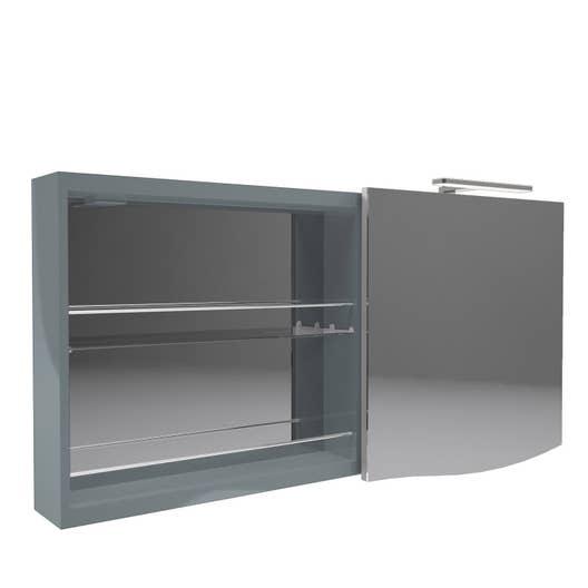 armoire de toilette lumineuse l 130 cm bleu decotec. Black Bedroom Furniture Sets. Home Design Ideas