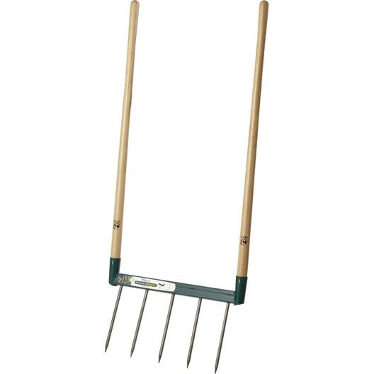 Griffe à bêcher acier forgé LEBORGNE manche bois L.110 cm | Leroy Merlin