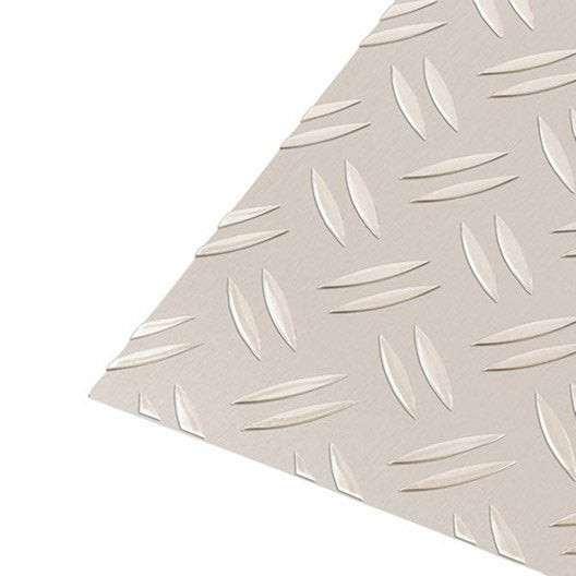 t le grain de riz aluminium anodis x cm x ep 1 5 mm leroy merlin. Black Bedroom Furniture Sets. Home Design Ideas