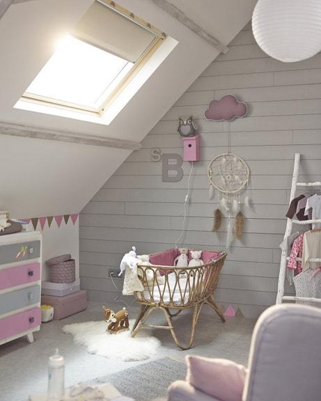 Des Idées Pour Une Chambre De Bébé Fille Leroy Merlin - Plinthe carrelage et tapis de chambre pour bebe