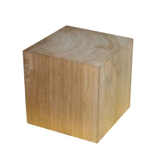 Cube ch ne les bois massifs et imitants bois leroy merlin for Construction cube bois