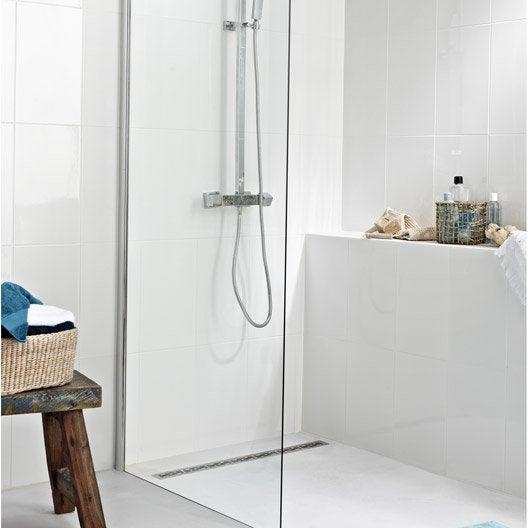 paroi de douche l 39 italienne cm verre transparent 8 mm open 2 leroy merlin. Black Bedroom Furniture Sets. Home Design Ideas