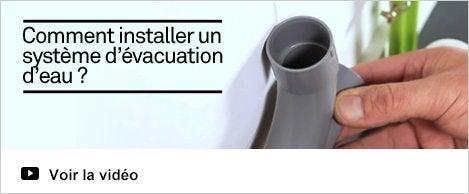 Vidéo  Installer un système d'évacuation d'eau