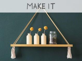 DIY : Créer une étagère en laiton et bois