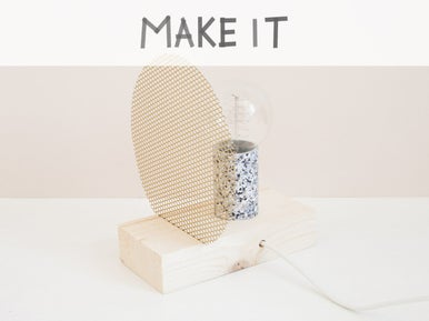 diy cr er une lampe de chevet ou une lampe poser leroy merlin. Black Bedroom Furniture Sets. Home Design Ideas