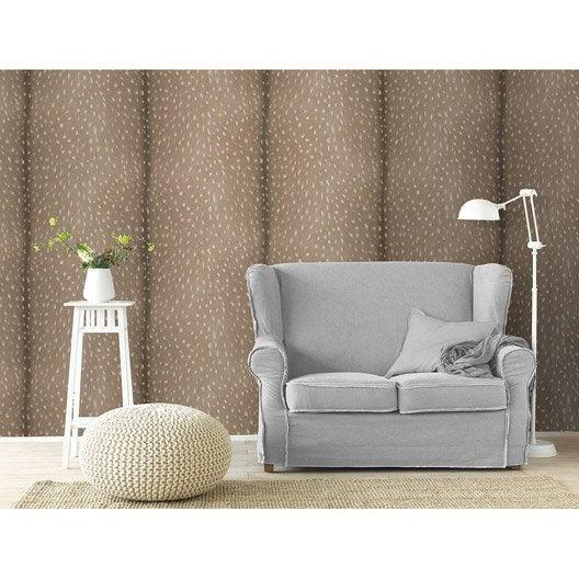 beautiful papier peint intiss peau de faon beige with papier peint imitation brique leroy merlin. Black Bedroom Furniture Sets. Home Design Ideas