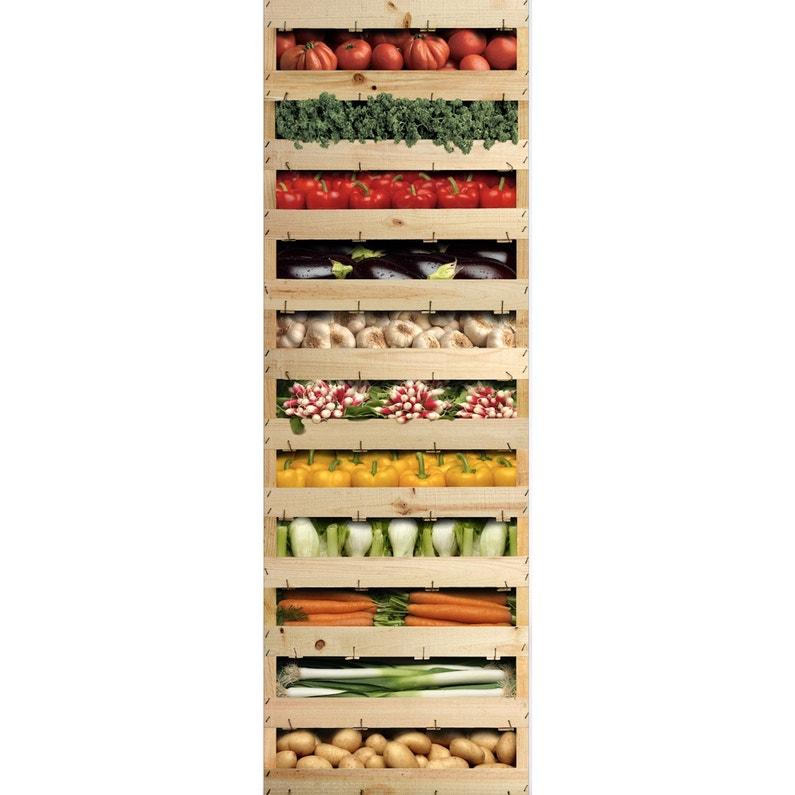 Sticker Réfrigérateur Légumes Du Marché 59 5 Cm X 180 Cm