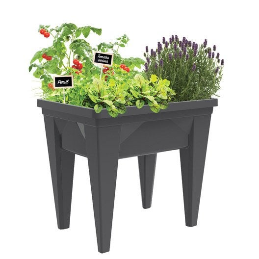 carr potager et table de rempotage bois acier au. Black Bedroom Furniture Sets. Home Design Ideas