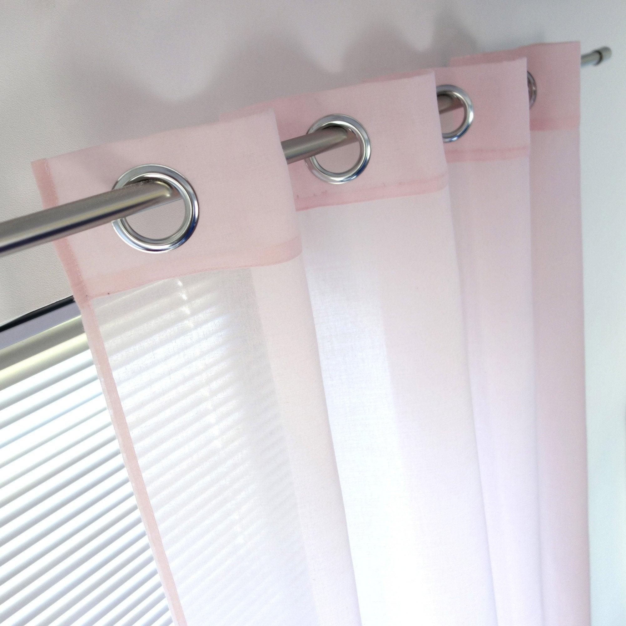 Voilage tamisant, Niagara, rose blush 5, l.140 x H.260 cm