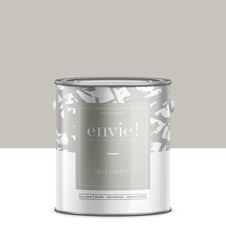 Peinture, mur, boiserie, radiateur ENVIE, gris cendre, velours, 2 l