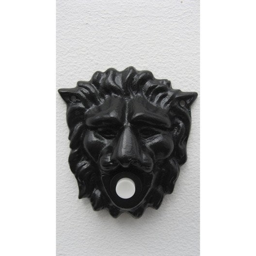 plaque t te de lion en fer leroy merlin. Black Bedroom Furniture Sets. Home Design Ideas