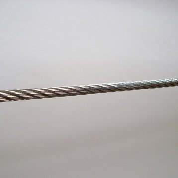 Câble pour garde-corps TIERAL métal gris H.2500 x l.0.5 cm