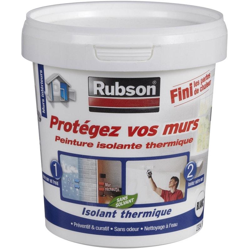 Peinture Thermique Protégez Vos Murs Rubson Blanc 075 L