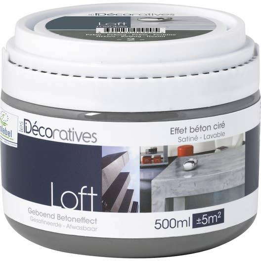peinture effet loft meuble les decoratives oslo 0 5 l. Black Bedroom Furniture Sets. Home Design Ideas