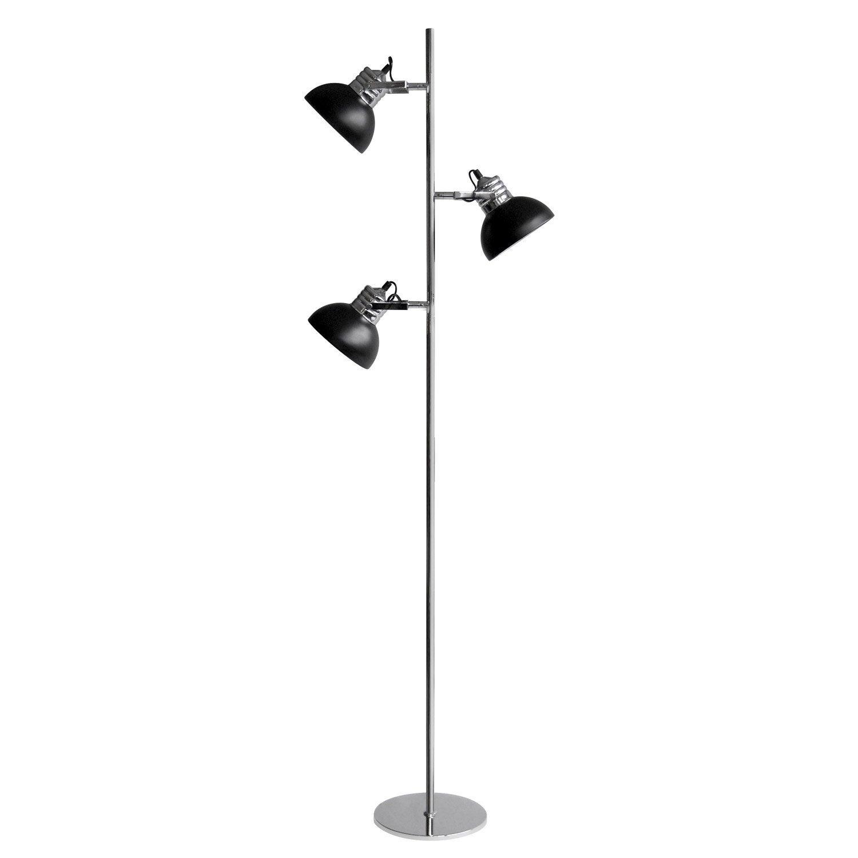 Lampadaire Charlie, 150 cm, noir, 40 W