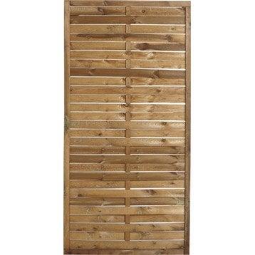 Panneau bois plein Mateo, l.90 x H.180 cm, marron