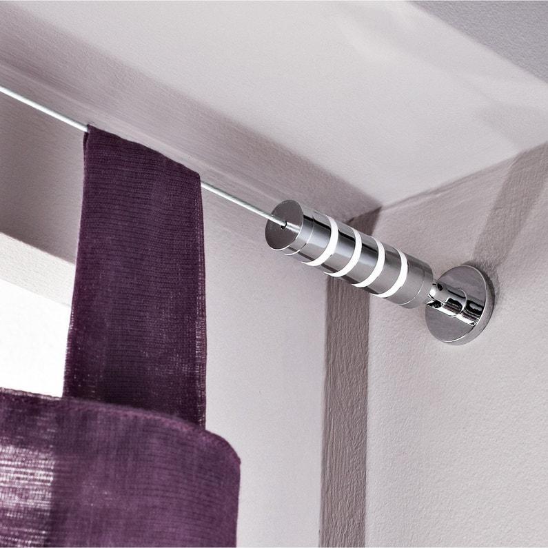 on feet at large discount online shop Kit complet câble pour mur et plafond Platinium, chromé, L.5 m