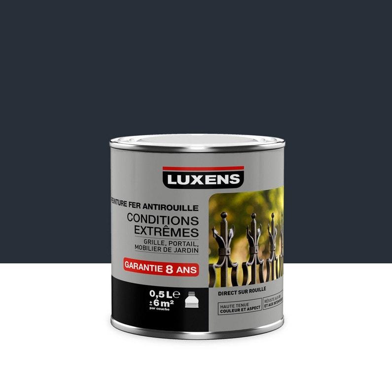 Peinture Fer Extérieur Antirouille Luxens Gris Anthracite 05 L