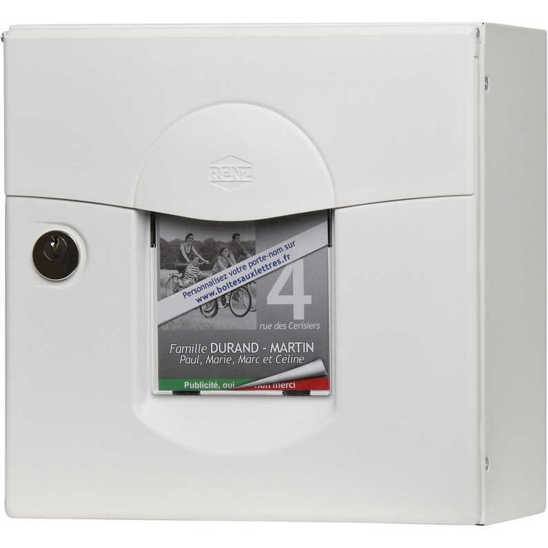Boite Aux Lettres Compacte 1 Porte Exterieur Renz Solea Acier Blanc Leroy Merlin