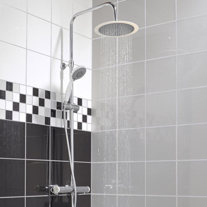 colonne de douche avec robinetterie color leroy merlin. Black Bedroom Furniture Sets. Home Design Ideas