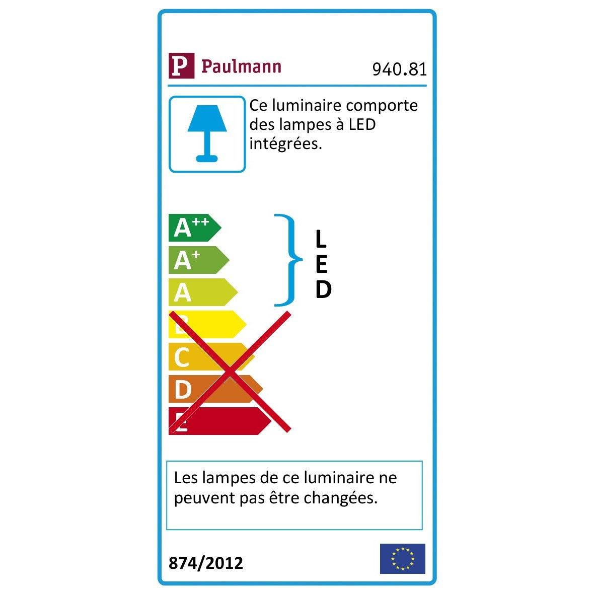 Kit Phase Métal Paulmann Led Câble NoirChrome5 rohQdxtsBC