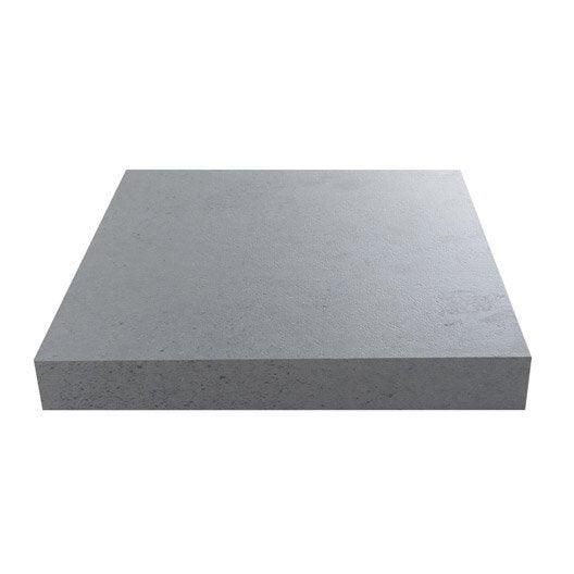 Plan de travail stratifié Effet béton clair Mat L 315 x P